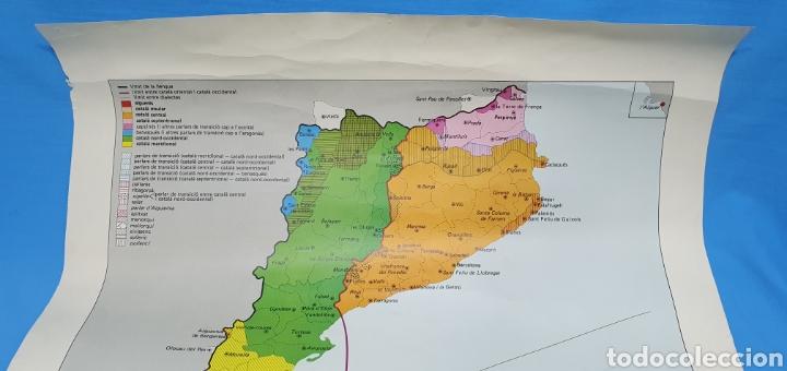 Carteles Políticos: CARTEL - DOMINIS DIALECTALS DEL CATALÀ - ENCICLOPEDIA CATALANA 1975 - Foto 2 - 253642715