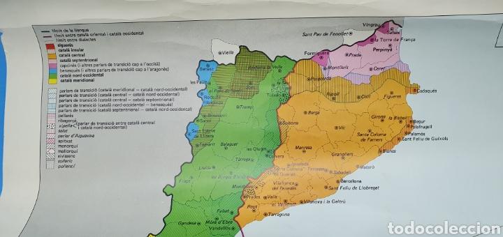 Carteles Políticos: CARTEL - DOMINIS DIALECTALS DEL CATALÀ - ENCICLOPEDIA CATALANA 1975 - Foto 3 - 253642715