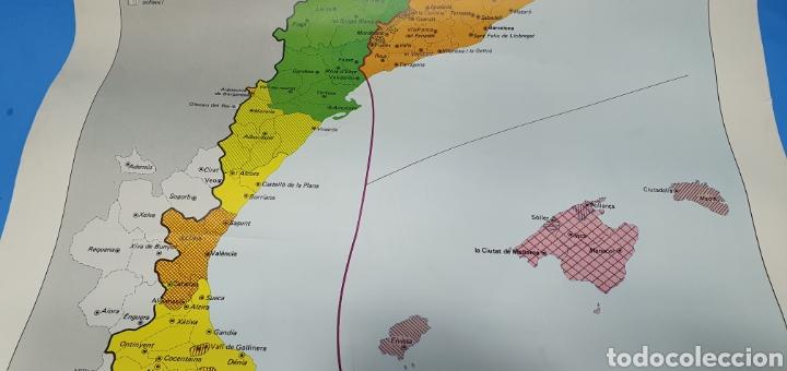 Carteles Políticos: CARTEL - DOMINIS DIALECTALS DEL CATALÀ - ENCICLOPEDIA CATALANA 1975 - Foto 4 - 253642715