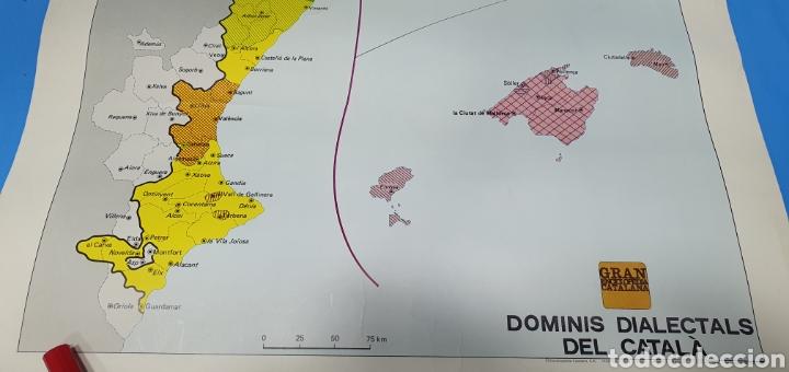 Carteles Políticos: CARTEL - DOMINIS DIALECTALS DEL CATALÀ - ENCICLOPEDIA CATALANA 1975 - Foto 5 - 253642715