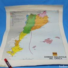 Carteles Políticos: CARTEL - DOMINIS DIALECTALS DEL CATALÀ - ENCICLOPEDIA CATALANA 1975. Lote 253642715