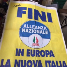 Carteles Políticos: ANTIGUO CARTEL POLÍTICO NACIONAL REVOLUCIONARIO,ITALIA,ITALIANO,FASCISMO,COLECCIONISMO,TRANSICIÓN. Lote 255545005