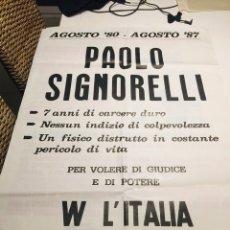 Carteles Políticos: ANTIGUO CARTEL POLÍTICO NACIONAL REVOLUCIONARIO,ITALIA,ITALIANO,FASCISMO,COLECCIONISMO,TRANSICIÓN. Lote 255545325