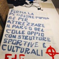 Carteles Políticos: ANTIGUO CARTEL POLÍTICO NACIONAL REVOLUCIONARIO,ITALIA,ITALIANO,FASCISMO,COLECCIONISMO,TRANSICIÓN. Lote 255545490