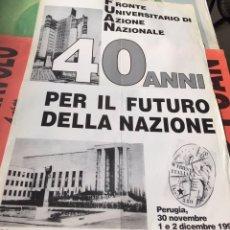 Carteles Políticos: ANTIGUO CARTEL POLÍTICO NACIONAL REVOLUCIONARIO,ITALIA,ITALIANO,FASCISMO,COLECCIONISMO,TRANSICIÓN. Lote 255547440