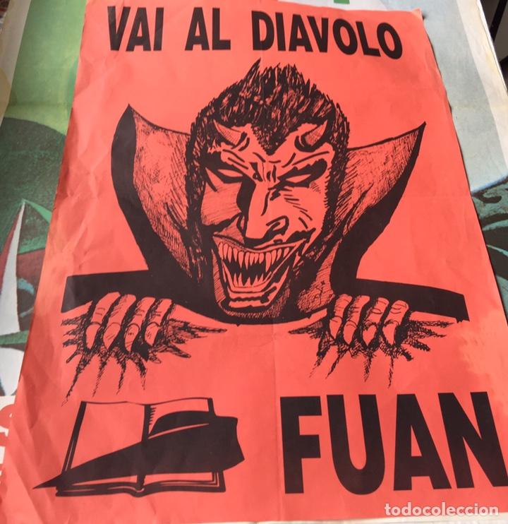 ANTIGUO CARTEL POLÍTICO NACIONAL REVOLUCIONARIO,ITALIA,ITALIANO,FASCISMO,COLECCIONISMO,TRANSICIÓN (Coleccionismo - Carteles gran Formato - Carteles Políticos)