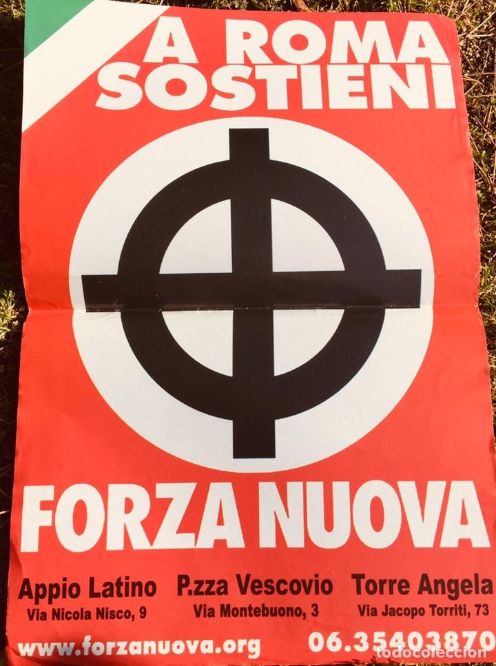 ANTIGUO CARTEL POLÍTICO NACIONAL REVOLUCIONARIO,FASCISMO,ARTÍCULO COLECCIONISMO,ITALIA,ITALIANO,NR (Coleccionismo - Carteles gran Formato - Carteles Políticos)