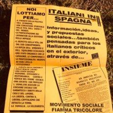 Carteles Políticos: ANTIGUO CARTEL POLÍTICO NACIONAL REVOLUCIONARIO,FASCISMO,ARTÍCULO COLECCIONISMO,ITALIA,ITALIANO,NR. Lote 256028305