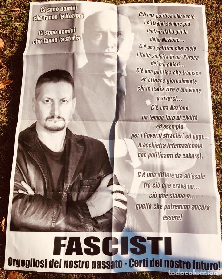 ANTIGUO CARTEL POLÍTICO NACIONAL REVOLUCIONARIO,FASCISMO,ARTÍCULO COLECCIONISMO,ITALIA,MUSSOLINI (Coleccionismo - Carteles gran Formato - Carteles Políticos)