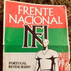 Carteles Políticos: ANTIGUO CARTEL POLÍTICO NACIONAL REVOLUCIONARIO,FASCISMO,ARTÍCULO COLECCIONISMO,PORTUGAL,FOLIO. Lote 256029930