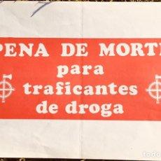 Carteles Políticos: ANTIGUO CARTEL POLÍTICO NACIONAL REVOLUCIONARIO,FASCISMO,ARTÍCULO COLECCIONISMO,PORTUGAL,FOLIO. Lote 256030505