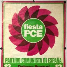 Carteles Políticos: CARTEL PROMOCIONAL MITÍN PCE ELECCIONES GENERALES DE 1977: DOLORES IBARRURI, SANTIAGO CARRILLO,. Lote 265656464