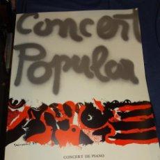 Affissi Politici: (M) CARTEL ORIGINAL CONCERT POPULAR GUINOVART 1975 -CONCERT PIANO CARLES SANTOS. Lote 269621838