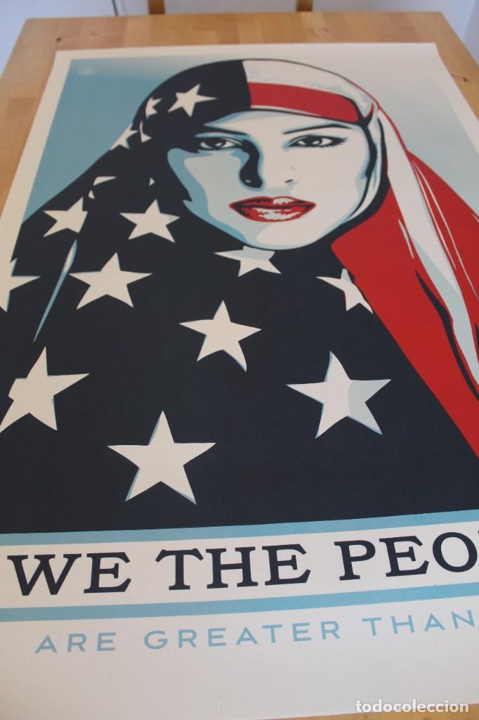 Carteles Políticos: Litografía Offset de Obey - We the People are Greater than Fear - Tamaño gigante - 61 x 91 cm - Foto 5 - 272739793