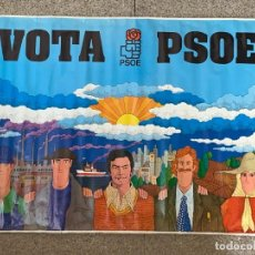 Carteles Políticos: CARTEL PUBLICITARIO PSOE VOTA PSOE FELIPE GONZALEZ DEPOSITO 1977 100X139CMS. Lote 276917528