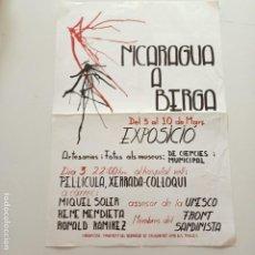 Carteles Políticos: CARTEL NICARAGUA A BERGA, FRONT SANDINISTA, AÑO 1989, 49 X 34 CM, PLEGADO. Lote 277741398