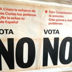 Carteles Políticos: CARTEL POLÍTICO CONTRARIO A LA CONSTITUCIÓN ESPAÑOLA,1978,FUERZA NUEVA,FUERZA JOVEN,FALANGE,FRANCO. Lote 284508098