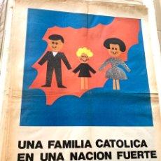 Carteles Políticos: CARTEL POLÍTICO CONTRARIO A LA CONSTITUCIÓN ESPAÑOLA,1978,FUERZA NUEVA,FUERZA JOVEN,FALANGE,FRANCO. Lote 284508378