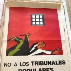 Carteles Políticos: CARTEL POLÍTICO CONTRARIO A LA CONSTITUCIÓN ESPAÑOLA,1978,FUERZA NUEVA,FUERZA JOVEN,FALANGE,FRANCO. Lote 284509173
