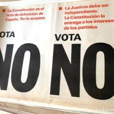 Carteles Políticos: CARTEL POLÍTICO CONTRARIO A LA CONSTITUCIÓN ESPAÑOLA,1978,FUERZA NUEVA,FUERZA JOVEN,FALANGE,FRANCO. Lote 284509408