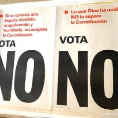 Carteles Políticos: CARTEL POLÍTICO CONTRARIO A LA CONSTITUCIÓN ESPAÑOLA,1978,FUERZA NUEVA,FUERZA JOVEN,FALANGE,FRANCO. Lote 284509648