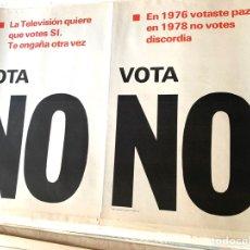 Carteles Políticos: CARTEL POLÍTICO CONTRARIO A LA CONSTITUCIÓN ESPAÑOLA,1978,FUERZA NUEVA,FUERZA JOVEN,FALANGE,FRANCO. Lote 284510018