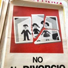 Carteles Políticos: CARTEL POLÍTICO CONTRARIO A LA CONSTITUCIÓN ESPAÑOLA,1978,FUERZA NUEVA,FUERZA JOVEN,FALANGE,FRANCO. Lote 284510933