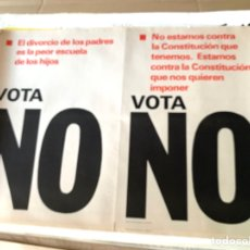 Carteles Políticos: CARTEL POLÍTICO CONTRARIO A LA CONSTITUCIÓN ESPAÑOLA,1978,FUERZA NUEVA,FUERZA JOVEN,FALANGE,FRANCO. Lote 284511458