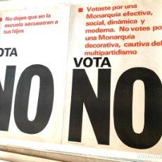Carteles Políticos: CARTEL POLÍTICO CONTRARIO A LA CONSTITUCIÓN ESPAÑOLA,1978,FUERZA NUEVA,FUERZA JOVEN,FALANGE,FRANCO. Lote 284511533