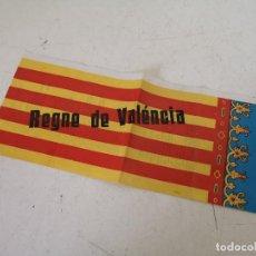Cartazes Políticos: ANTIGUO CARTEL BANDERA DE VALENCIA, CON HIMNO EN VALENCIANO, REINO DE VALENCIA, UNOS 30 X 18 CMS.. Lote 287143778