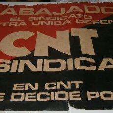 Carteles Políticos: POSTER CARTEL DE LA CNT AÑOS 70 85 CMS X 60 CMS. Lote 287919888