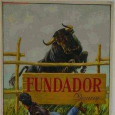 Carteles Publicitarios: CARTEL FUNDADOR DOMEC, TEMA TOROS, ORIGINAL , LITOGRAFIA. Lote 17812971