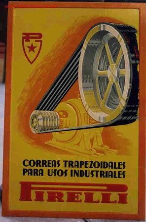 Cartel publicidad pirelli 1 en carton comprar carteles - Carteles publicitarios antiguos ...