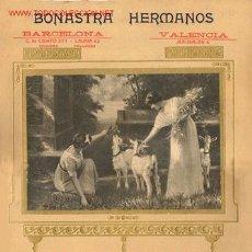 Carteles Publicitarios: CARTEL MUY ANTIGUO DE BONASTRA HERMANOS. BARCELONA. Lote 27477730