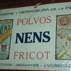 Carteles Publicitarios: EXCEPCIONAL PUBLICIDAD EN CARTON DE POLVOS NENS FRICOT PRECIOSO Y ORIGINAL ANTIGUO- LEER. Lote 18718256