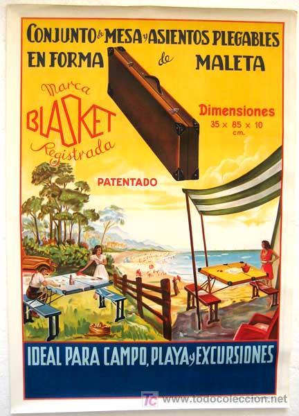 Cartel publicidad mesas plegables blasket par comprar for Mesas plegables para camping