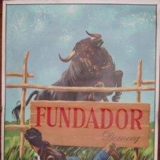 Carteles Publicitarios: CARTEL FUNDADOR DOMECQ 1967 (ORIGINAL). Lote 82517524