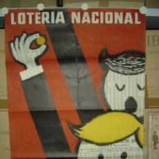 Carteles Publicitarios: CARTEL LOTERIA NACIONAL - AÑO 1962. Lote 26676147