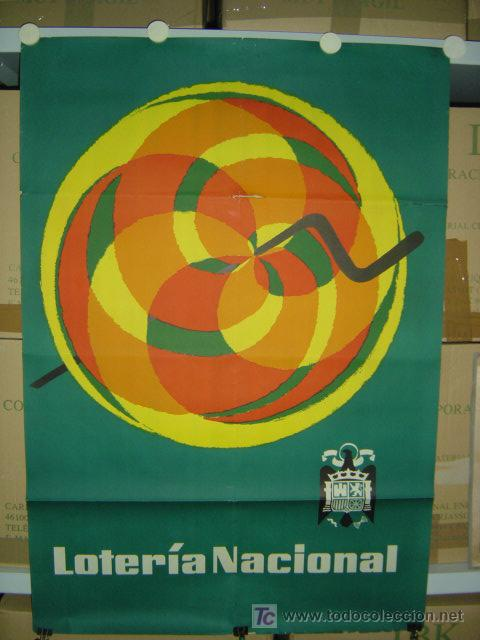 CARTEL LOTERIA NACIONAL - AÑOS 1950-60 (Coleccionismo - Carteles Gran Formato - Carteles Publicitarios)