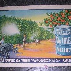 Carteles Publicitarios: LABORATORIOS DR.TRIGO 1930 APROX. Lote 9690878