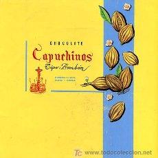 Carteles Publicitarios: CARTEL PINTADO A MANO ,PUBLICIDAD DE CHOCOLATE CAPUCHINOS , . Lote 22720461