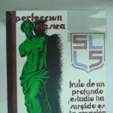 Affiches Publicitaires: SABADELL (BARCELONA) - SUCESORES DE LLONCH Y SALA - AÑOS 1930, TEIXIDOR. Lote 194572898