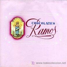 Carteles Publicitarios: CARTEL ORIGINAL , PINTADO A MANO , ENVOLTORIO PUBLICIDAD CHOCOLATES RAMOS, NTRA. SRA. LAS CANDELAS. Lote 5248975