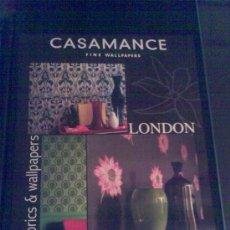 Carteles Publicitarios: 'CASAMANCHE - FINE WALLPAPERS', LONDRES. 40 X 52 CM.. Lote 23443780