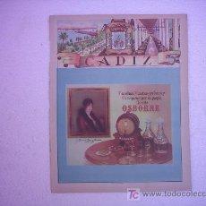 Carteles Publicitarios: CARTEL CADIZ PUBLICIDAD OSBORNE. Lote 27388563