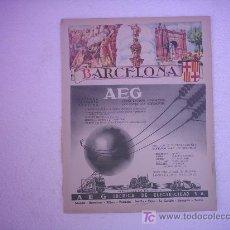 Carteles Publicitarios: CARTEL BARCELONA (PUBLICIDAD A E G). Lote 26675574