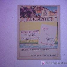 Carteles Publicitarios: CARTEL ALICANTE. Lote 26993484