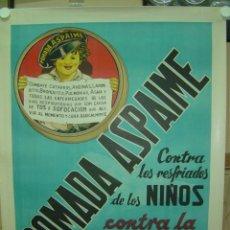 Carteles Publicitarios: CARTEL PASTILLAS ASPAIME TOS (NIÑO) - CARTEL LITOGRAFICO - AÑOS 1940. Lote 206431937
