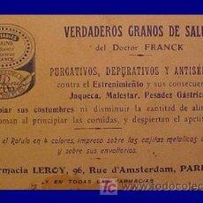 Carteles Publicitarios: CROMOS PUBLICITARIOS CARTELES PUBLICIDAD. Lote 27547818