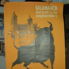 Carteles Publicitarios: SALAMANCA - 1ª SEMANA INTERNACIONAL DE ALIMENTACION DEL TORO DE LIDIA - AÑO 1961. Lote 26738432